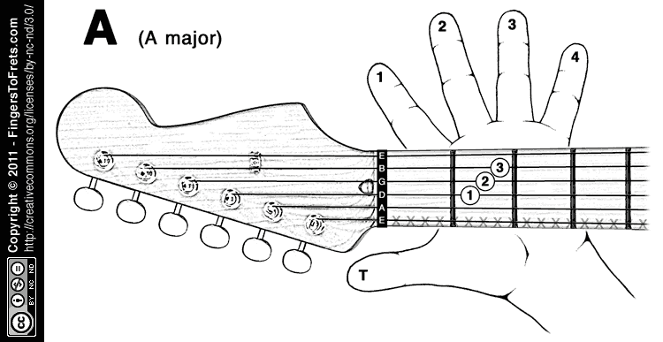 Fingers To Frets Visual Guitar Chord Charts